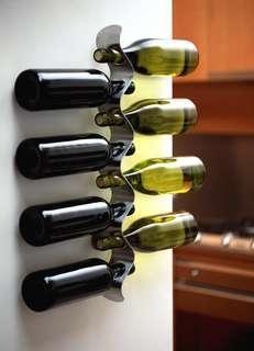 Designer Wine Rack + Humour Wooden Sign