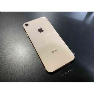 iPhone8 256G 金色 原廠整新機 全新未用 保固內 只要19000 !!!