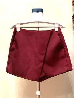 TOP SHOP SKORT - high waisted - maroon / burgundy