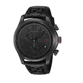 0ded69f1633 Gucci YA126244 G-Timeless Chronograph Black Dial Black Fabric Men s Watch