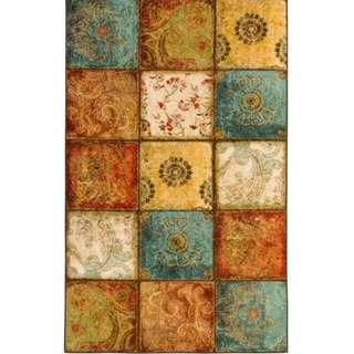 Patchwork Rug | Made in the USA | Panel Design | Carpet