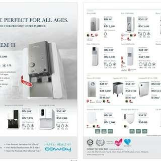 Coway Air and water purifier