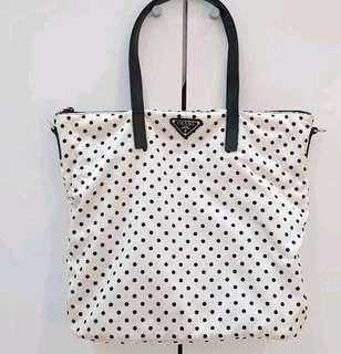 Prada polkadot nylon bag