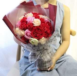 Soap Flower Rose Bouquet 🌹