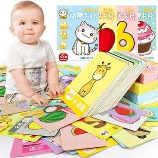 Baby Flash Card Kids Puzzle Early Learning Flashcards