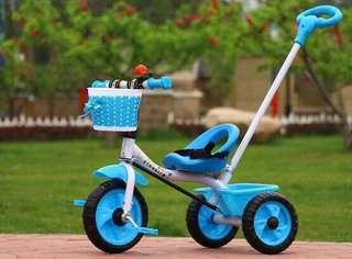 🚚 Cheapest Sale - Kid's Tricycle with Push Handle (Sky Blue)