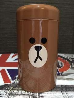 Line friend brown鐵罐
