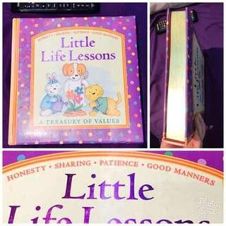 Little life lessons: honesty sharing patience good manners hard cover giant book gold margin 內文見優惠