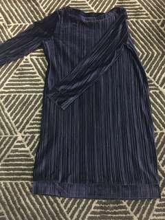 Something borrowed suede dress