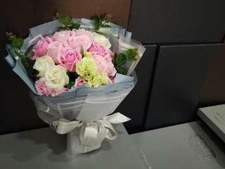 Soap flower bouquet