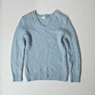 PESCE ITALY 喀什米爾羊絨天藍色毛衣
