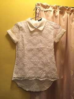 Lace Top /white 90%new