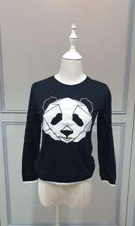 Panda Cropped Pullover