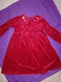 Little red velvet dress #STB50