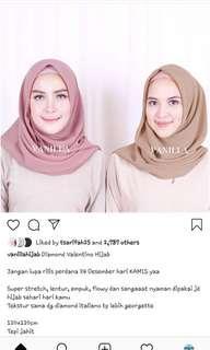 Vanilla Hijab 2 Pcs Segi4 Diamond Italiano [Nude Milo & Taro Grey]