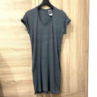 🚚 G-Star 🇳🇱 灰色全棉休閒洋裝