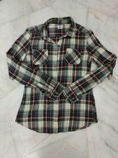 Preloved Uniqlo Flannel Top #STB50