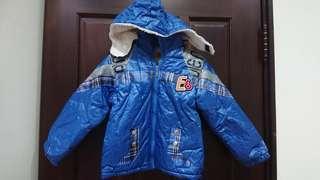 男童冬季連帽厚外套