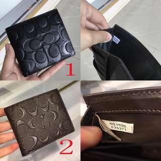 COACH; Men Short Wallet