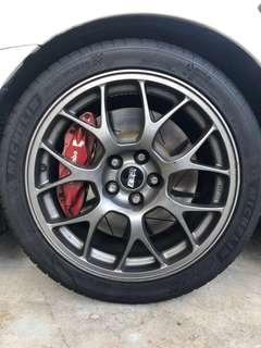 Evo X stock BBS rims with PS4 tyre