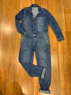 Topman Denim Boiler Suit