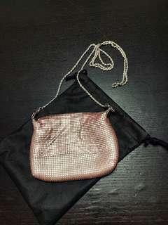 Pink mini cross body wallet