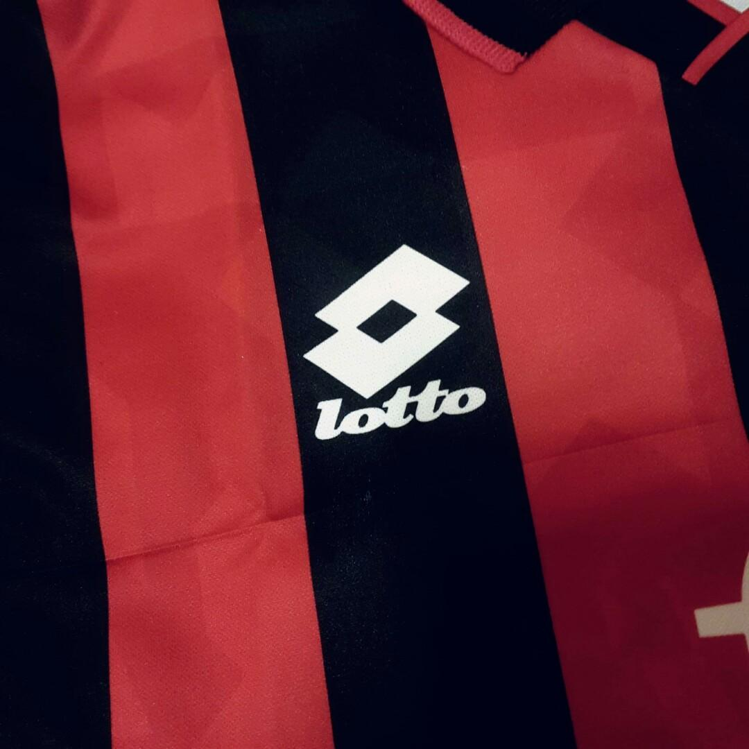 1995/96 AC米蘭 主場 球衣 巴治奥 中碼 Lotto Milan Jersey Shirt Baggio Size M