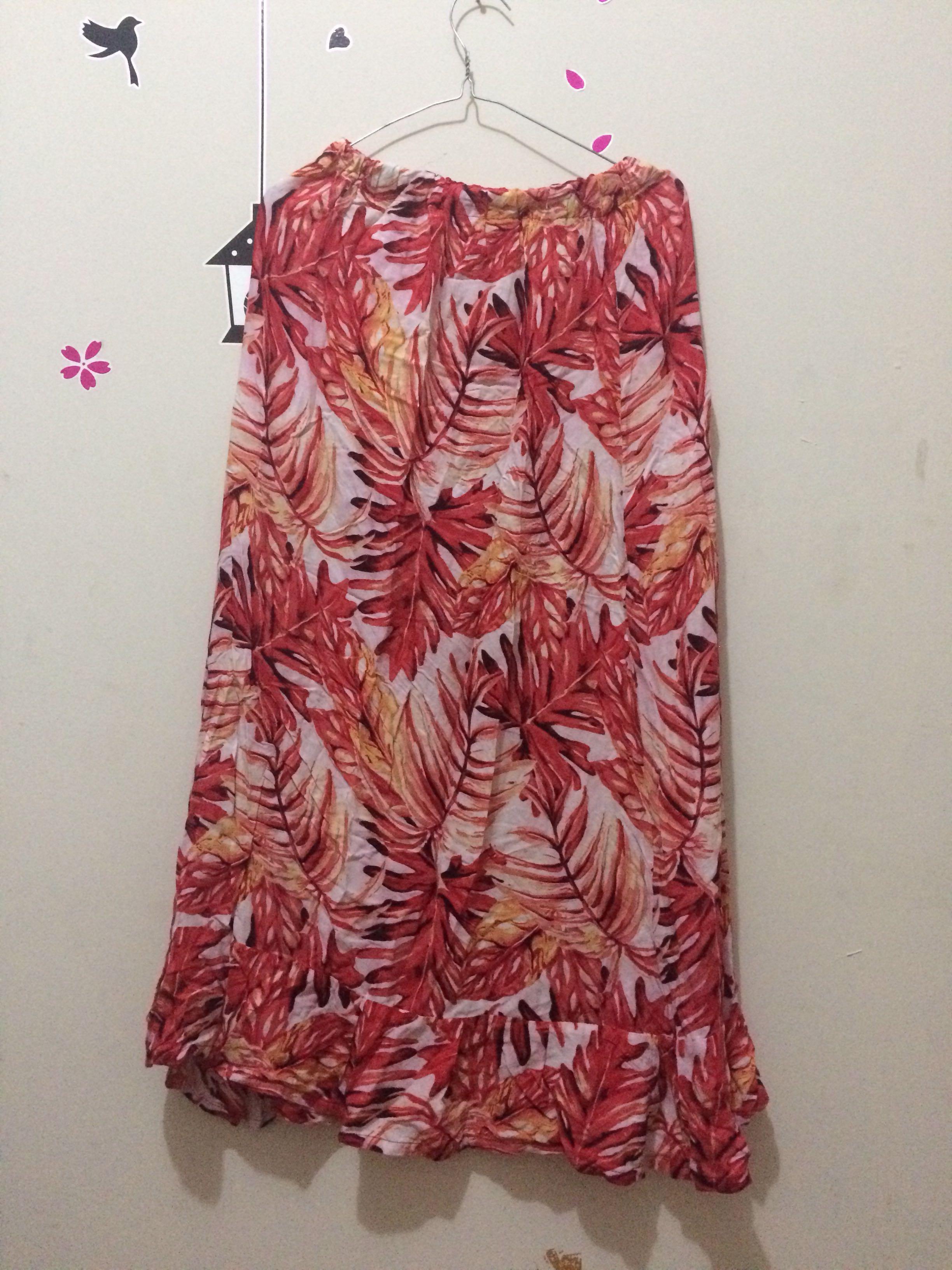 1 set dress pantai floral