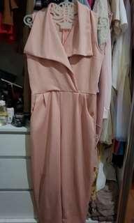 Jumpsuit panjang pink