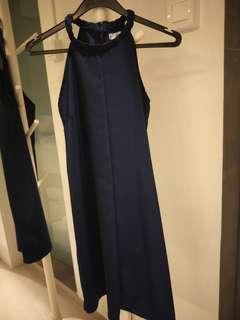 SALE = Braided neckline cut-in dress