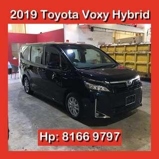 Toyota Voxy V Hybrid 2019 Brand New MPV   ( Grab Rebate Go Jek Car Rental Not Noah Estima Vellfire Alphard Freed Alpha Carens Diesel Plus )
