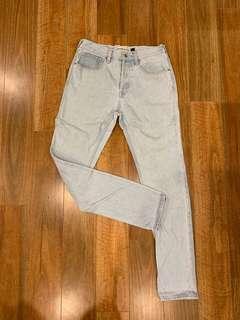 Topman Light Bleach Vintage Skinny Fit Jean's
