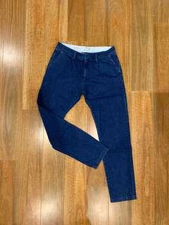 Topman Relaxed Tapered Denim Pants