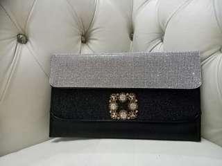 Dinner Clutch Black with stunning beads