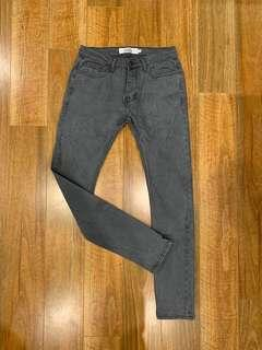 Topman Grey Stretch Skinny Jean's