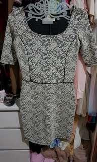 Dress bershka lace