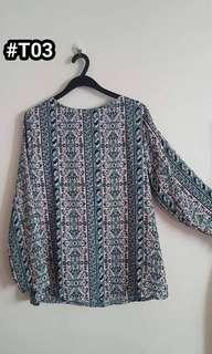 Printed Top fit M to L Size