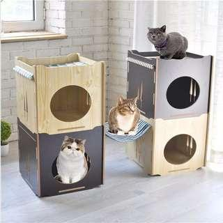 Cat Bed with Hammock (instock)