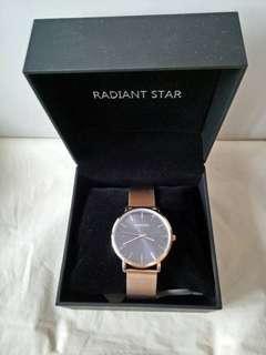 🚚 RADIANT STAR 金屬鏈帶手錶
