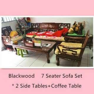 🚚 Blackwood sofa set