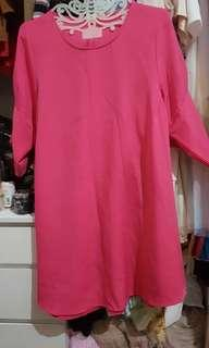 Dress pink fuschia this is april