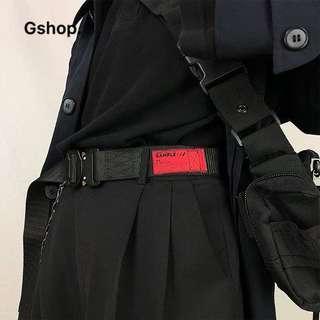 【 Gshop.】機能腰帶多功能皮帶眼鏡蛇戰術金屬插扣帆布腰帶男女