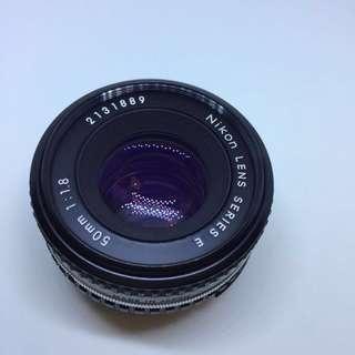 Nikon 50mm F1.8 Al-S Series E