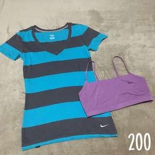 Nike Shirt w/ free sports bra