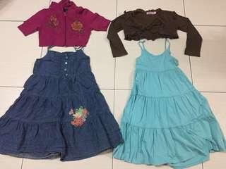 Set dress & cardigan 4/5years