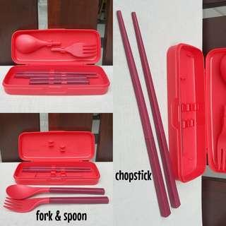 Portable cutlery with casing