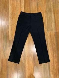 Topman Skinny Black Trousers Cuffed and Cropped