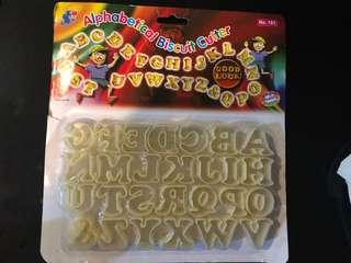 Baking /Cake Alphabet cutters