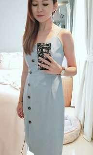 SALE = Side button dress in straps