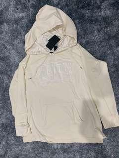 BNWT Small Puma Fenty fleece off shoulder hoodie dry vanilla ice